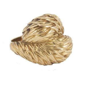 Vintage Van Cleef and Arpels Gold Crossover Ring