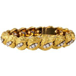 Vintage Georland of Paris Diamond Set Gold Bracelet