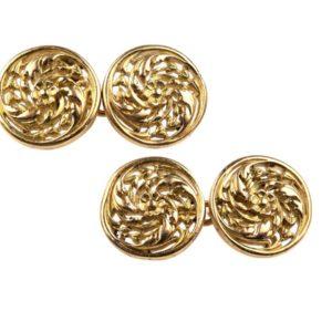 Antique Victorian Weise Gold Cufflinks