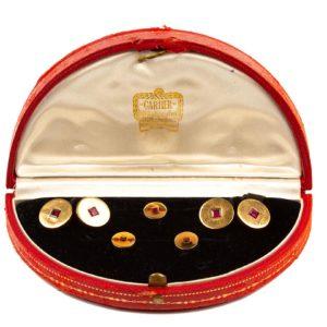 Vintage Cartier Burma Ruby Gold Dress Set