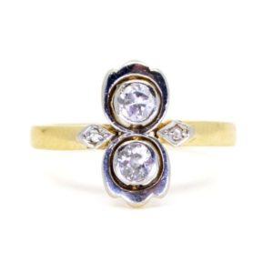 Antique Art Deco Two Stone Diamond Ring
