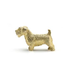 Scottish Terrier Gold Brooch