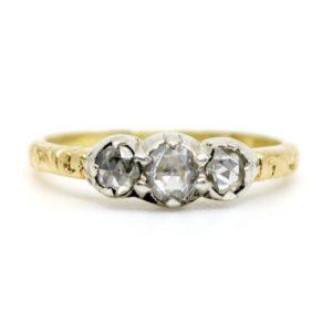 Antique Victorian Three Stone Diamond Ring