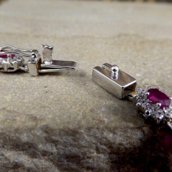 Ruby and Diamond Cluster Bracelet