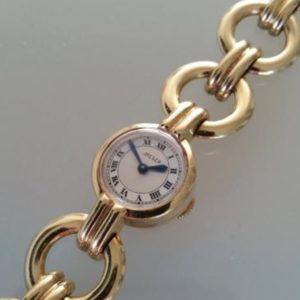 Jaeger back winder ladies gold watch link bracelet