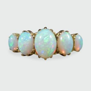 Antique Victorian Five Stone Opal Ring