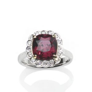 4.47ct Spinel and Diamond Cluster Ring