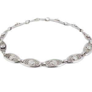Antique Art Deco Diamond Set Platinum Bracelet
