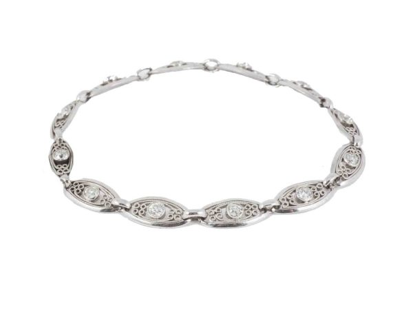 Antique Art Deco Diamond Set Platinum Bracelet