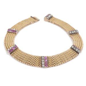 Antique Austrian Burma Ruby and Diamond Bracelet