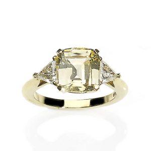 4.51ct Yellow Sapphire and Diamond Ring