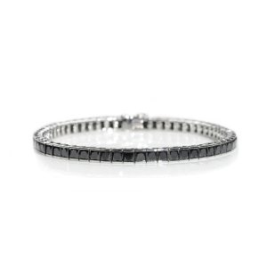 Black Diamond Set Line Bracelet