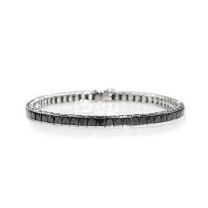 Black Diamond Set Line Bracelet