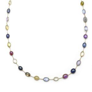 Cabochon Sapphire Necklace