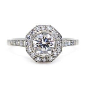 Vintage Octagonal Diamond Cluster Ring