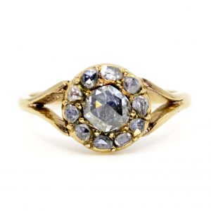 Antique Victorian Diamond Cluster Ring