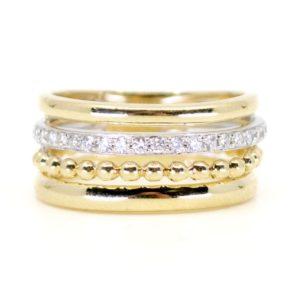 Diamond Set Gold Eternity Ring