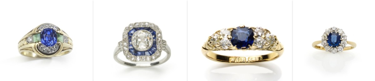 Antique sapphire rings engagement