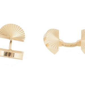 Vintage Cartier Gold Fan Cufflinks