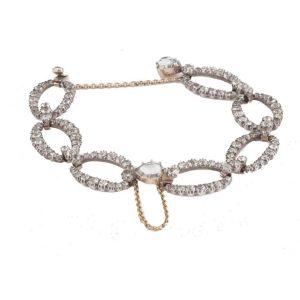 Antique Georgian White Paste Bracelet