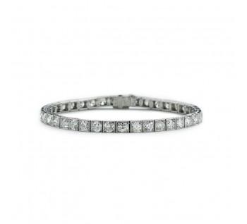 Antique Art Deco Yard Diamond Line Bracelet