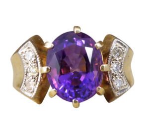 Vintage rings at jewellery discovery London