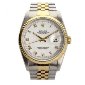Rolex Datejust stainless steel and gold bracelet watch 36mm
