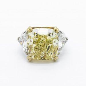 14.51ct Fancy Intense Yellow Diamond Ring