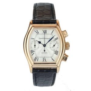Girard-Perregaux Richeville gents watch 18ct rose gold chronograph black strap