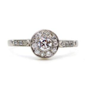 Vintage Diamond Halo Ring