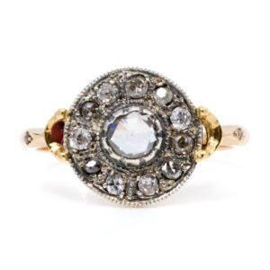Antique Victorian 0.55ct Rose Cut Diamond Ring