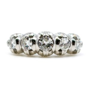 Antique Art Deco 1.20ct Diamond Five Stone Ring
