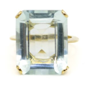 Retro 20.95ct Aquamarine Cocktail Ring