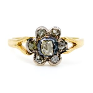 Antique Victorian Old Mine Cut Diamond Ring