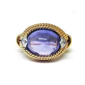 Vintage 1960's Marchak sapphire and gold ring