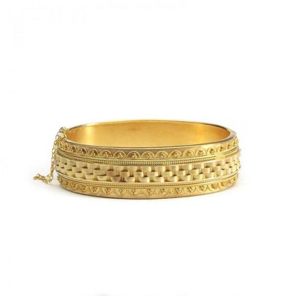 ANTIQUE VICTORIAN GOLD BANGLE