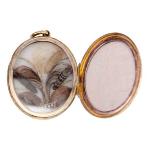 Antique Mourning Gold Locket