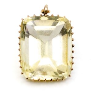 Antique Victorian Citrine Gold Pendant