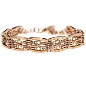 Antique Victorian Gold Gate Bracelet
