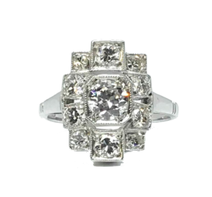 Art Deco ring jewellery discovery london Platinum