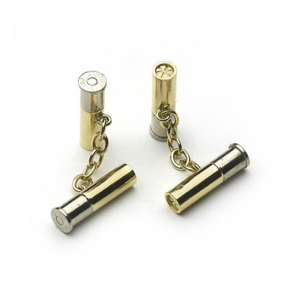 CARTIER GOLD SHOTGUN CARTRIDGE CUFFLINKS