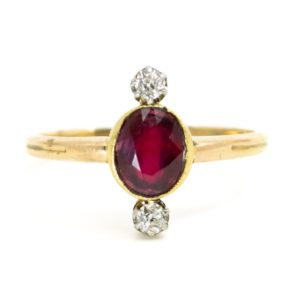 Diamond and Ruby Victorian Ring