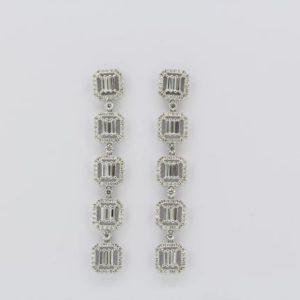 Diamond drop earrings, estimate total weight 4.50 carats