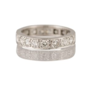 Antique Diamond Full-Eternity Ring, 2.10 carats, set in Platinum