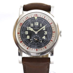 Gentlemen's Omega Museum 1938 Pilot Watch Limited With Box & Papers