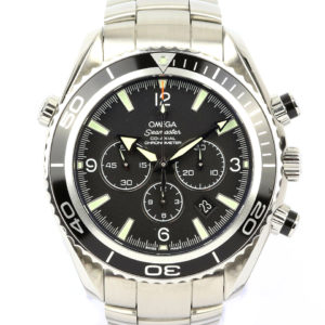 Gentlemen's Omega Seamaster Planet Ocean Chronograph, Ref. 2210.50.00 With Papers, automatic movement, stainless steel case and bracelet