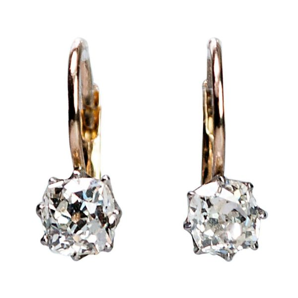 Victorian Diamond and Gold Earrings