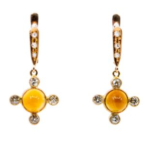 Victorian Diamond and topaz earrings