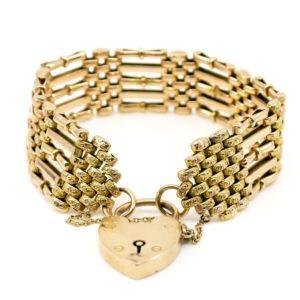 Victorian Gold Gate Bracelet