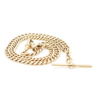Victorian Gold Watch Chain Necklace BB1